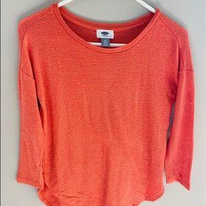 Girls coral long sleeve shirt